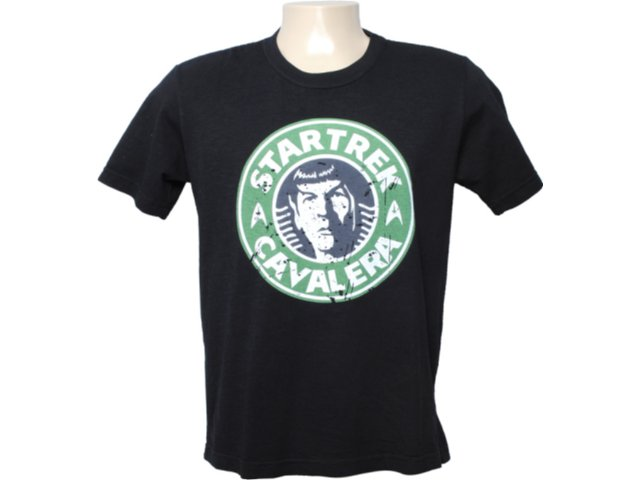 Camiseta Masculina Cavalera Clothing 01.01.6342 Preto