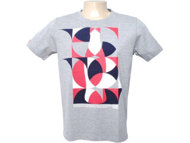 Camiseta Masculina Coca-cola Clothing 353202860 Cinza Escuro