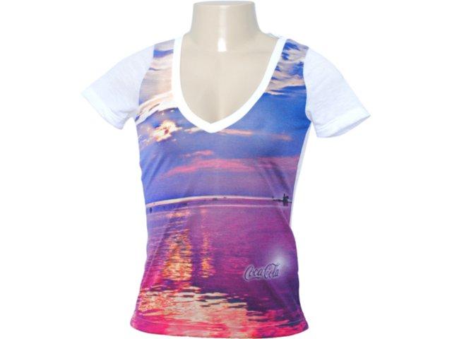 Camiseta Feminina Coca-cola Clothing 343200405 Branco