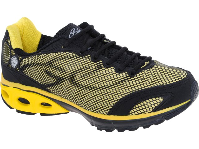 Tênis Masculino Olympikus Spoke 785 Preto/amarelo