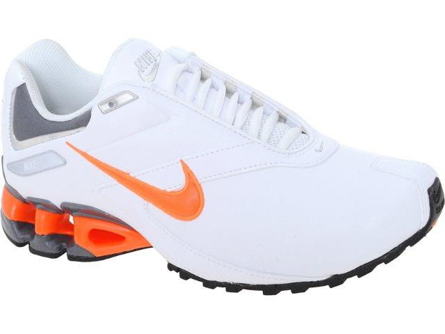 Tênis Masculino Nike Impax Emirro 386501-106 Branco/laranja
