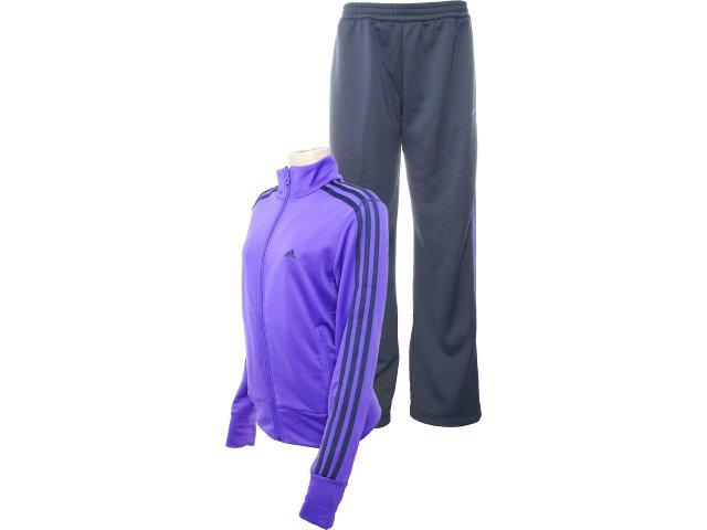 Abrigo Feminino Adidas O03135 Roxo/chumbo