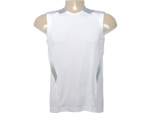 Regata Masculina Adidas O03735 Branco/cinza