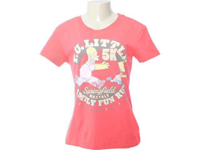Camiseta Feminina Cavalera Clothing 09.02.0875 Coral