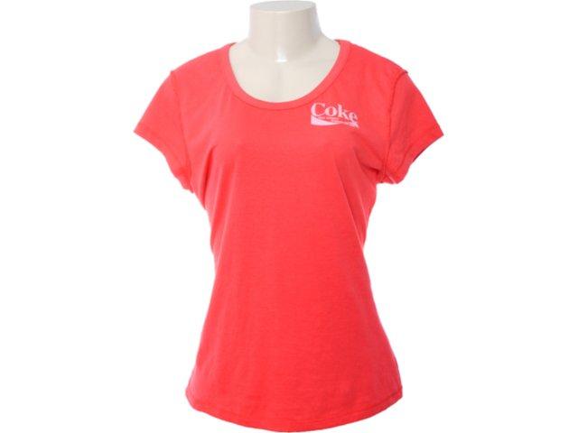 Camiseta Feminina Coca-cola Clothing 343200409 Vermelho