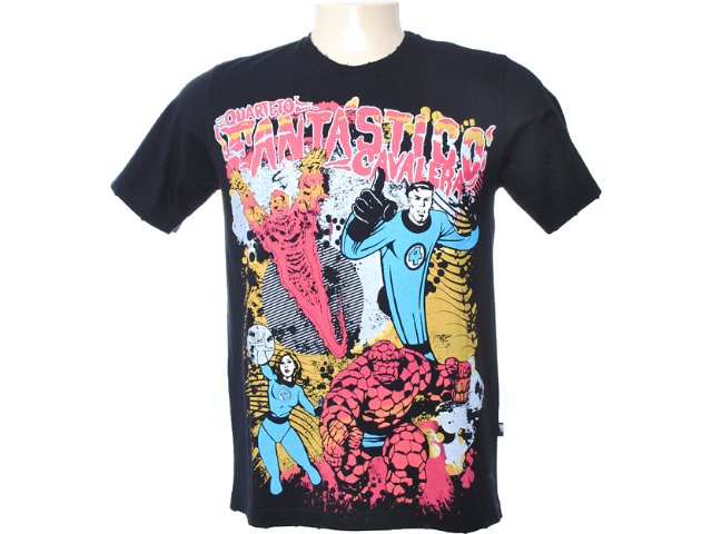 Camiseta Masculina Cavalera Clothing 01.01.6041 Preto