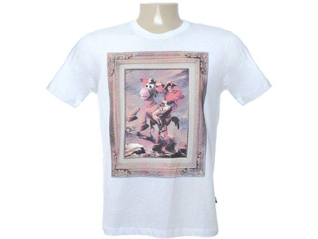 Camiseta Masculina Cavalera Clothing 01.01.6316 Branco