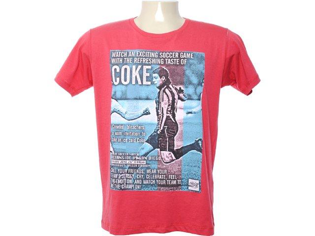 Camiseta Masculina Coca-cola Shoes 353202515 Vermelho