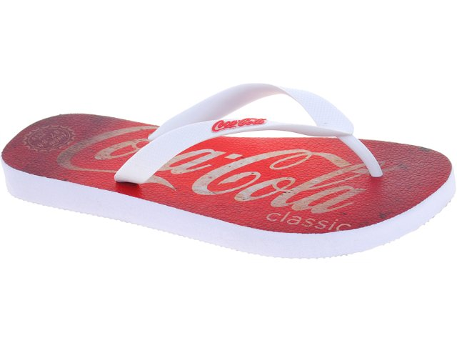 Chinelo Masculino Coca-cola Shoes Cc1270002 Branco