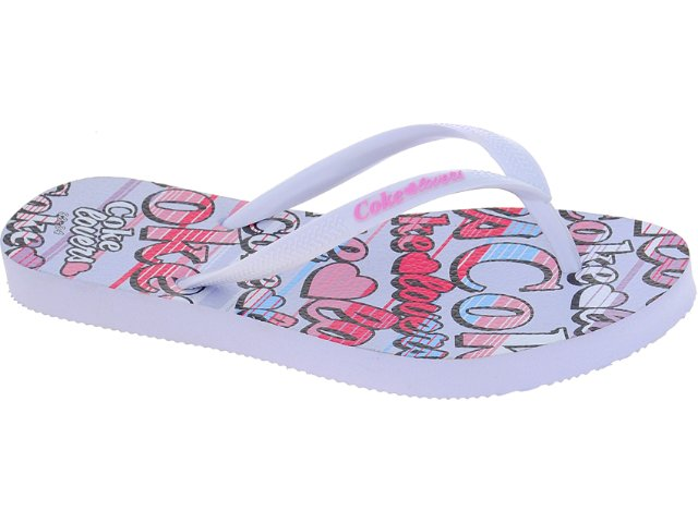 Chinelo Feminino Coca-cola Shoes Cc1260001 Branco