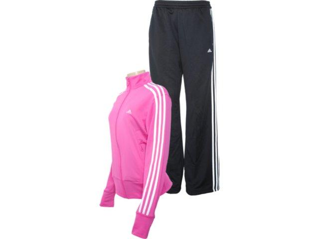 Abrigo Feminino Adidas O03139 Pink/preto