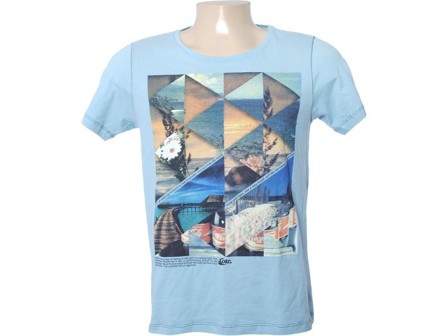 Camiseta Masculina Coca-cola Shoes 353202456 Azul