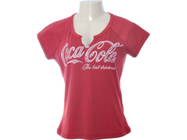 Camiseta Feminina Coca-cola Clothing 343200410 Vermelho