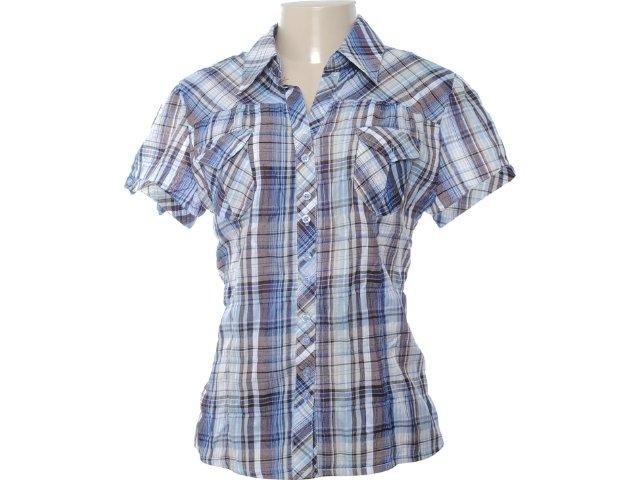 Camisa Feminina Mooncity 216104 Azul