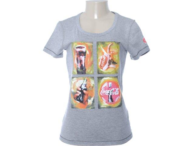 Camiseta Feminina Coca-cola Clothing 343200357 Cinza