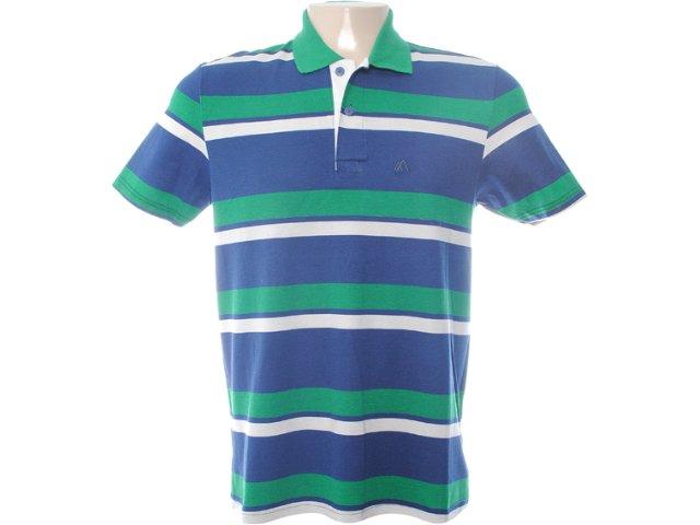 Camiseta Masculina Mineral 98568 Listrado Marinho