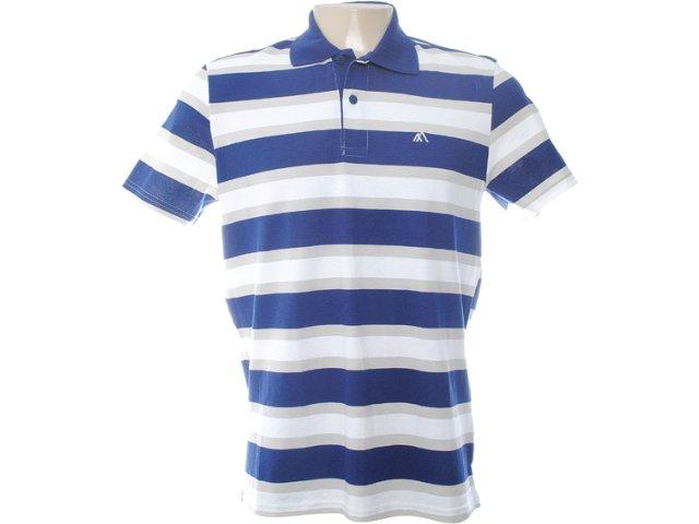 Camiseta Masculina Mineral 95103 Listrado Marinho