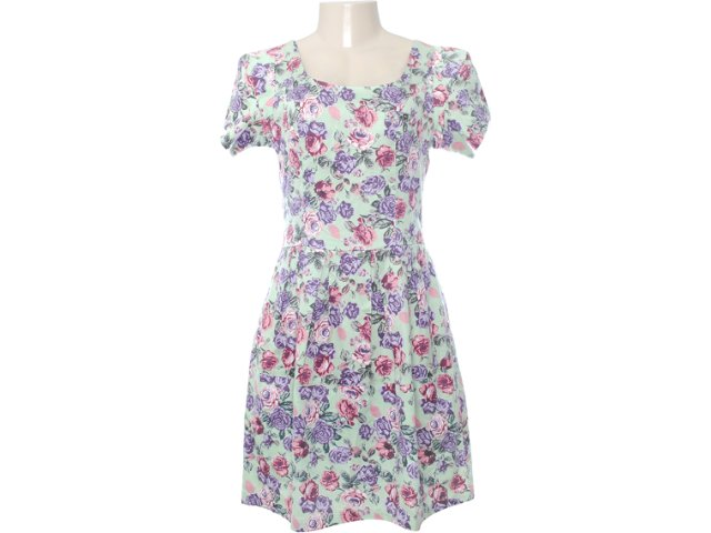 Vestido Feminino Checklist 19.10.2656 Floral Verde