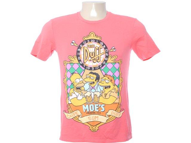 Camiseta Masculina Cavalera Clothing 01.01.6246 Coral