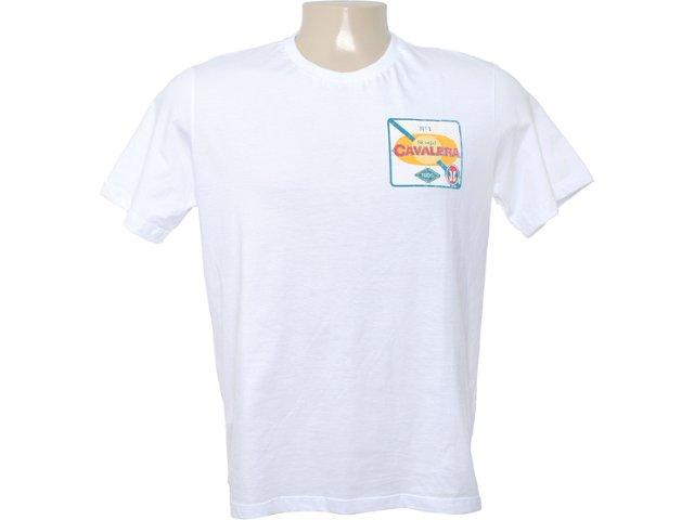 Camiseta Masculina Cavalera Clothing 01.01.6640 Branco