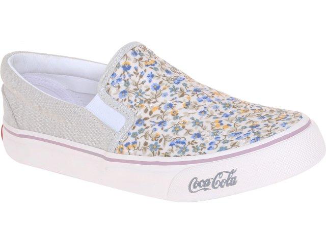 Tênis Feminino Coca-cola Shoes Cc0141 Floral Bege
