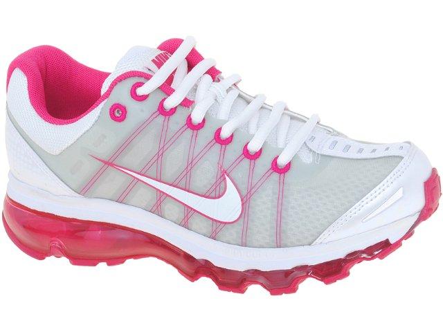 Tênis Feminino Nike 476784-101 Air Max  Branco/pink