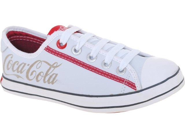 Tênis Feminino Coca-cola Shoes Cc0154 Branco/vermelho