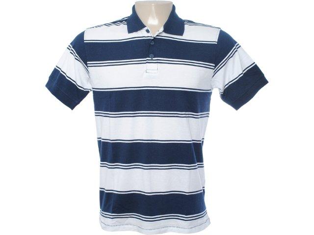 Camiseta Masculina Hering Kt16 2jsi Branco/marinho