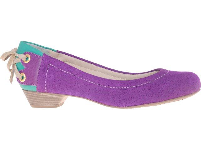 Sapato Feminino Bebêcê5230016 Roxo Verde