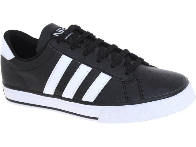 Tênis Masculino Adidas G11711 se Daily Vulc Preto/branco
