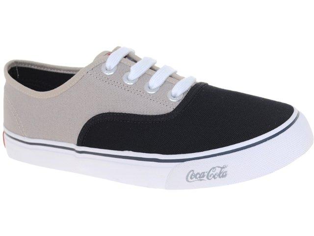 Tênis Masculino Coca-cola Shoes Cc0162 Preto/bege