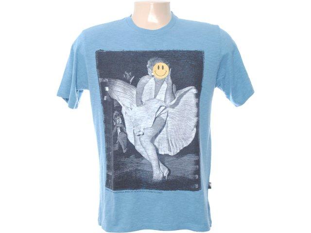 Camiseta Masculina Cavalera Clothing 01.01.6562 Azul