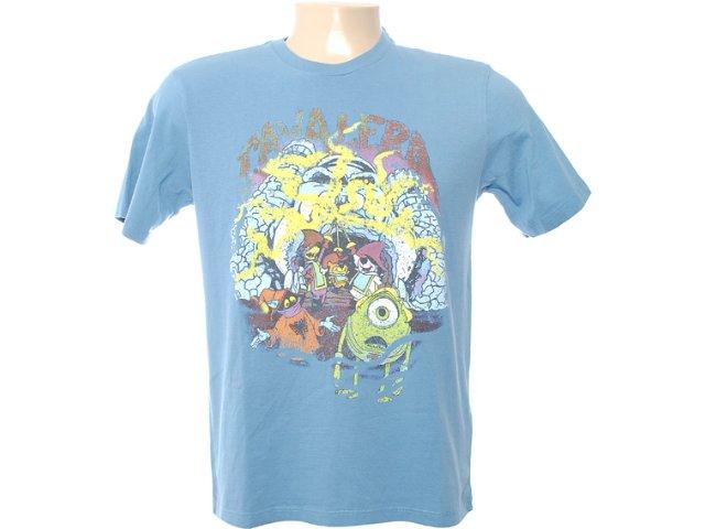 Camiseta Masculina Cavalera Clothing 01.01.6506 Azul