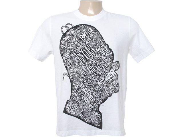 Camiseta Masculina Cavalera Clothing 01.01.6249 Branco