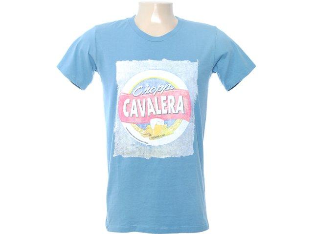 Camiseta Masculina Cavalera Clothing 01.01.6578 Azul