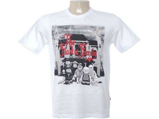 Camiseta Masculina Cavalera Clothing 01.01.6567 Branco