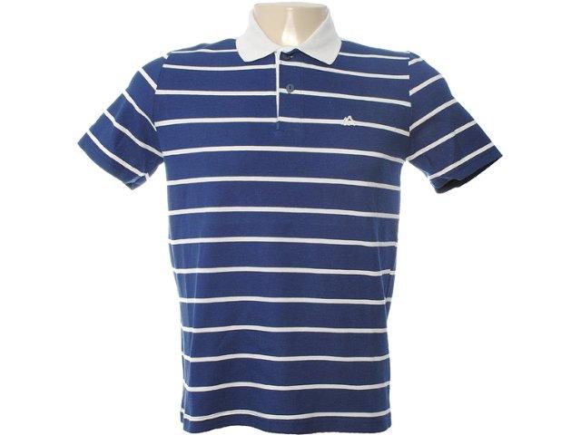 Camiseta Masculina Mineral 98574 Listrado Azul