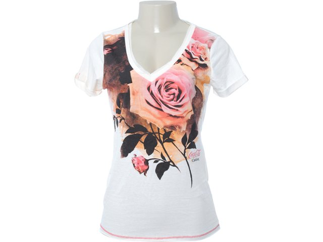 Camiseta Feminina Coca-cola Clothing 343200468 Off White
