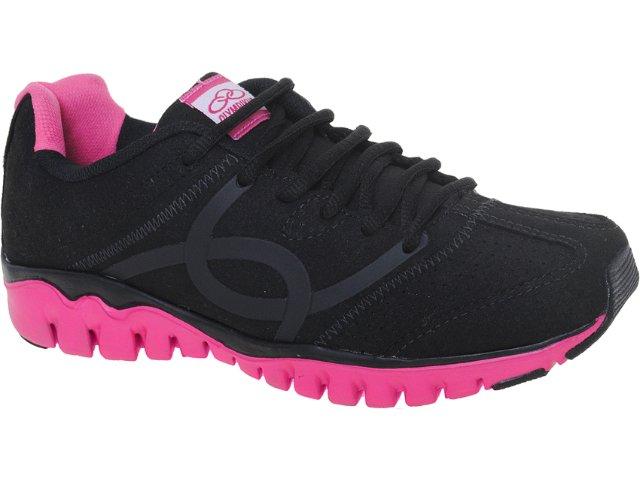 Tênis Feminino Olympikus Jump Preto/pink