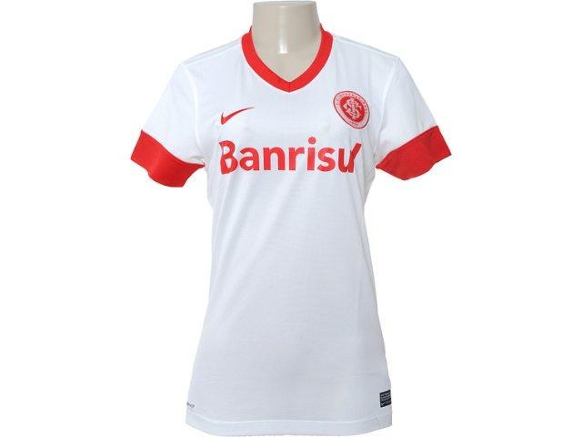T-shirt Feminino Inter 527764-100 Branco/vermelho