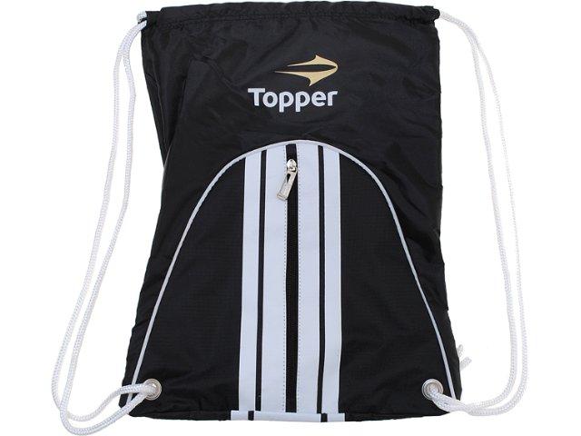 Bolsa Masculina Topper 4124584 Preto/branco