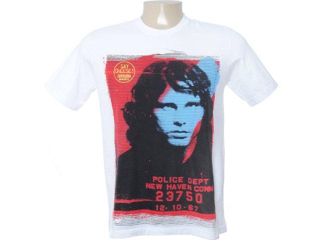 Camiseta Masculina Cavalera Clothing 01.01.6559 Branco