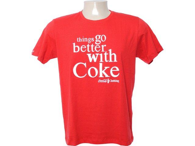 Camiseta Masculina Coca-cola Clothing 353202885 Vermelho