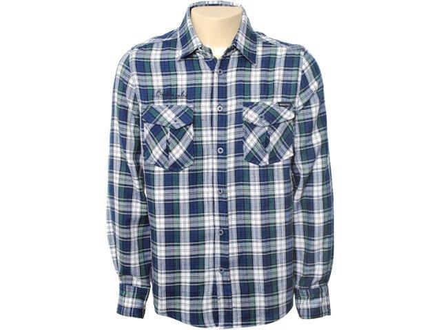 Camisa Masculina Mooncity 110011 Verde Escuro