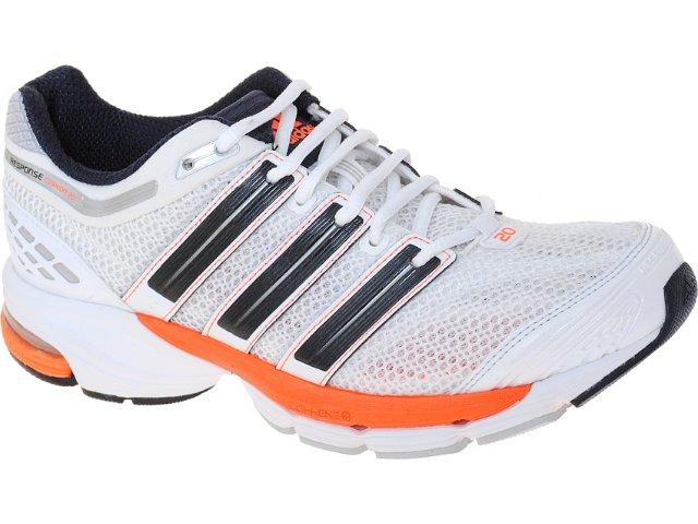Tênis Masculino Adidas V22874 Resp Cushion Branco/laranja