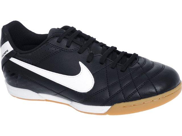 Tênis Masculino Nike 454323-018 Tiempo Preto/branco