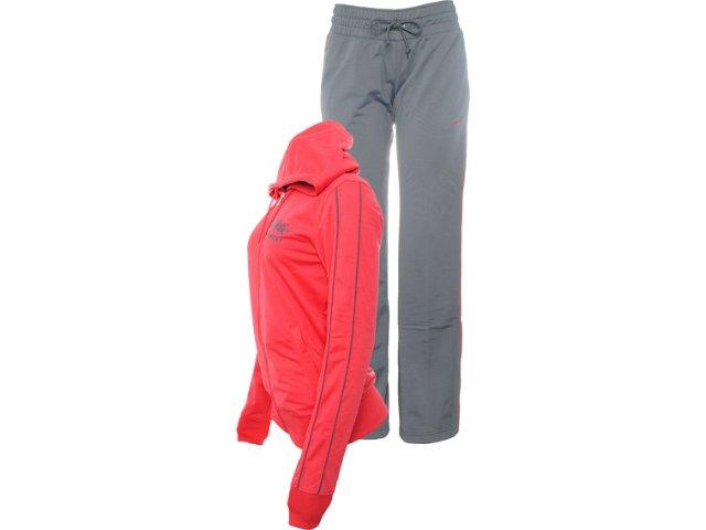 Abrigo Feminino Nike 455876-622 Vermelho/cinza