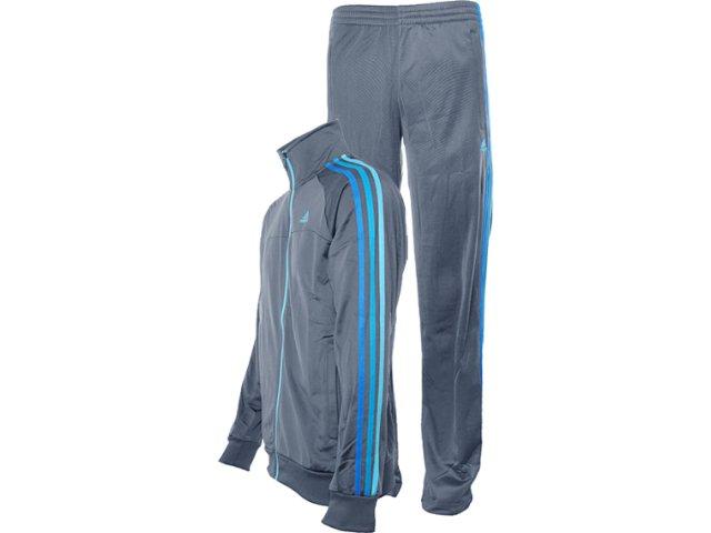 Abrigo Masculino Adidas X35759 Chumbo/azul