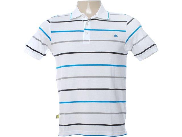 Camisa Masculina Adidas O04293 Branco Listrado