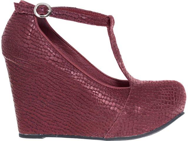 Sapato Feminino Tanara 3102 Bordo